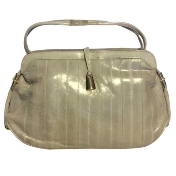 Vintage Handbags - Vintage genuine EEL Leather Purse/Clutch